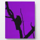 Gothic Crow on Purple Plaque