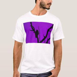Gothic Crow on Purple T-Shirt