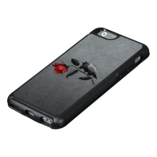 Gothic Crow on Rose OtterBox iPhone 6 Case
