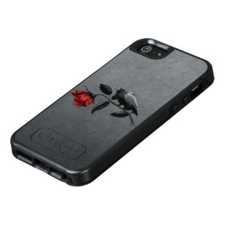 Gothic Crow on Rose OtterBox iPhone SE Case