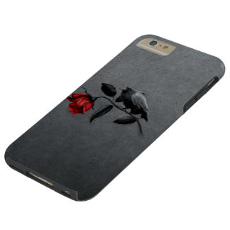 Gothic Crow on Rose Tough iPhone 6 Plus Case