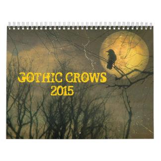 Gothic Crows 2015 Wall Calendar