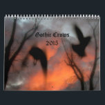 """Gothic Crows 2015 Calendar<br><div class=""""desc"""">A collection of my Gothic crows photographs adds a touch of Gothic art to any home.</div>"""