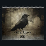 "Gothic Crows 2018 Calendar<br><div class=""desc"">Gothic crows calendar for the year 2018 made directly from my own photographs. Lots of crows in  dark and eerie settings at the graveyards where they live. If you like Gothic style art and crows this is the calendar for you.</div>"