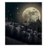Gothic Crows Mini Poster