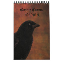 Gothic Crows Of 2019 Calendar