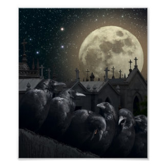 Gothic Crows Poster