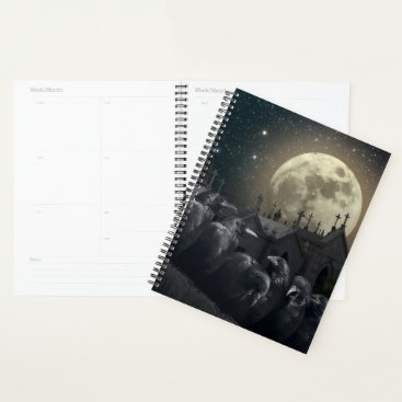 Halloween Themed Gothic Crows Spiral Planner