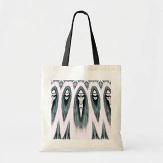 Gothic Cult Mask evil black and white drawing Canvas Bags