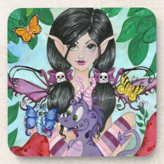 """Gothic Cuties #2"" CORK COASTERS by ronnebarton"