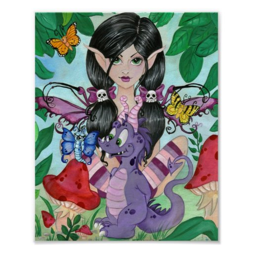 """Gothic Cuties #2"" Framed Fairy Art Print"