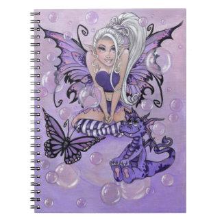 """""""Gothic Cuties"""" cute fairy dragon NOTEBOOK"""