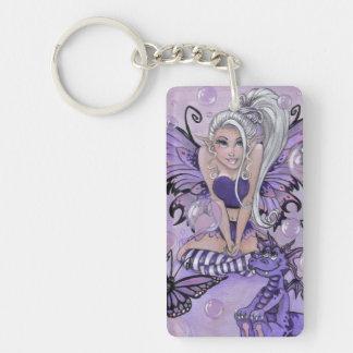 """""""Gothic Cuties"""" fairy fantasy dragon keychain"""