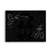Gothic Damask A2 Envelope with Border for Label