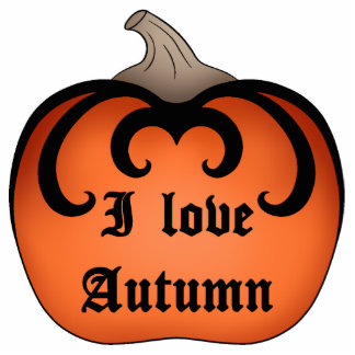 Gothic damask Autumn pumpkin Thanksgiving Photo Cutouts