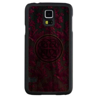 Gothic Damask Burgundy Celtic Knot Galaxy Case Carved® Walnut Galaxy S5 Case
