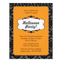Gothic Damask Halloween Party Invitation
