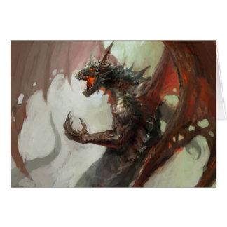 Gothic Dark Dragon Greeting Card