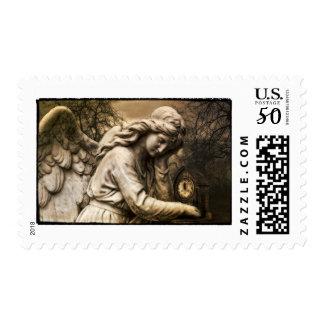 Gothic Dark Fantasy Angel Weeping Time Stamp