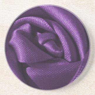 Gothic Dark Purple Rose Drink Coaster