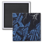 Gothic dark storm fantasy blue refrigerator magnets