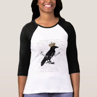 """Gothic Design """"Crown of Crow"""" Typography Collage T-Shirt"""