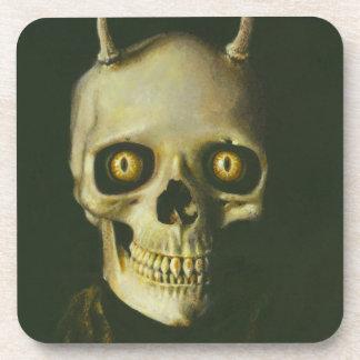 Gothic Devil Skull Coaster