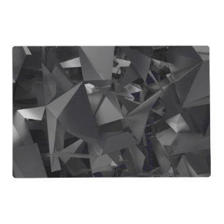 Gothic Dimensional Abstract Laminated Placemat