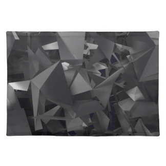 Gothic Dimensional Abstract Cloth Placemat