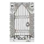 Gothic Door (black & white) print
