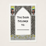 Gothic Door bookplate Business Card