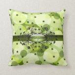 Gothic dots in jive green American MoJo Pillow