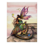 Gothic Dragon Fairy Poster by Molly Harrison
