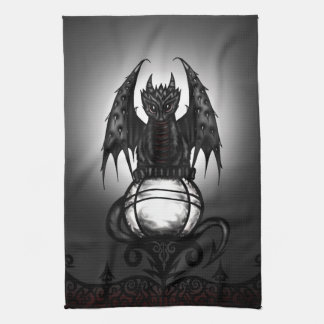 Gothic Dragon Hand Towels