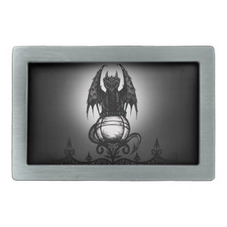 Gothic Dragon Rectangular Belt Buckle