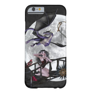 Gothic Dragon Vampire full moon black burgundy Barely There iPhone 6 Case
