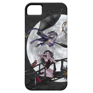 Gothic Dragon & Vampire purple red candles bird iPhone SE/5/5s Case