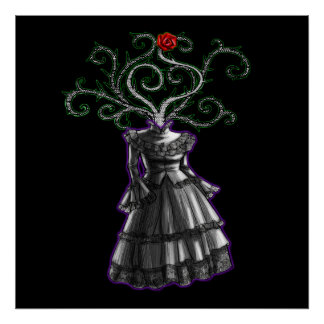 Gothic Dress Poster
