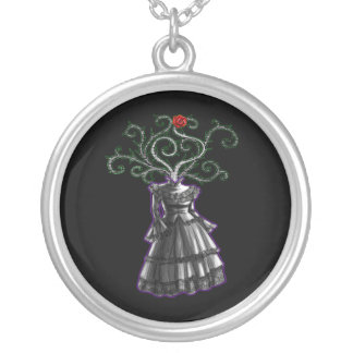 Gothic Dress Round Pendant Necklace