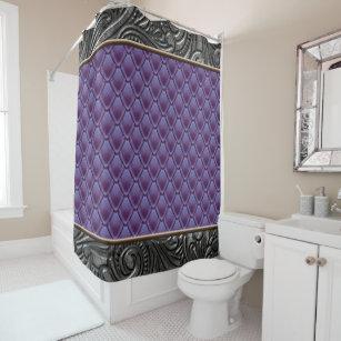 Gothic Eggplant Shower Curtain