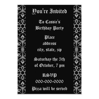 Gothic elegance Birthday Party 5x7 Paper Invitation Card