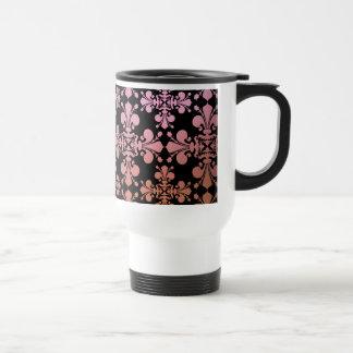 Gothic elegance fleur de lis damask 3 coffee mug
