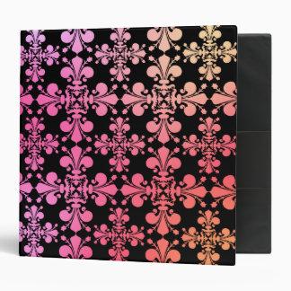 Gothic elegance fleur de lis damask 5 binder