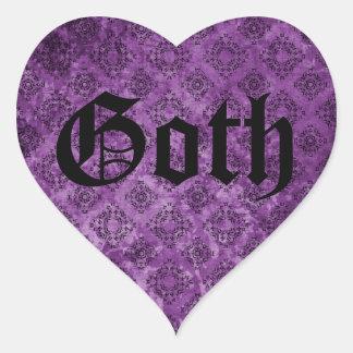 Gothic elegant victorian purple grunge heart sticker