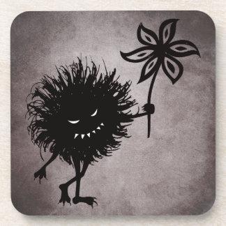 Gothic Evil Bug Gives Flower Vintage Coaster