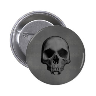 Gothic evil fanged skull Halloween horror 2 Inch Round Button