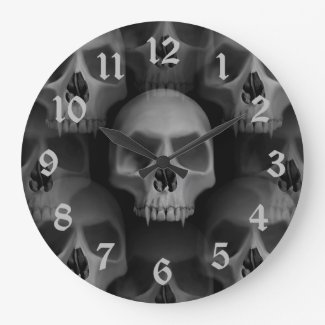 Gothic Evil Fanged Skull Halloween Horror
