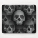 Gothic evil fanged skull Halloween horror Mouse Pads