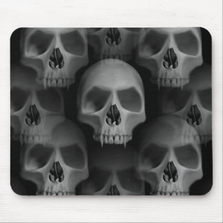 Gothic evil fanged skull Halloween horror Mouse Pad
