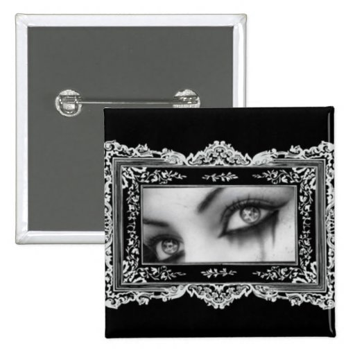 Gothic Eyes Pinback Buttons